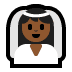 👰🏾 bride with veil: medium-dark skin tone Emoji on Windows Platform