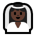 👰🏿 bride with veil: dark skin tone Emoji on Windows Platform