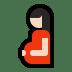 🤰🏻 pregnant woman: light skin tone Emoji on Windows Platform