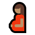 🤰🏽 pregnant woman: medium skin tone Emoji on Windows Platform