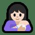 🤱🏻 breast-feeding: light skin tone Emoji on Windows Platform