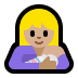 🤱🏼 breast-feeding: medium-light skin tone Emoji on Windows Platform