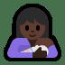 🤱🏿 Dark Skin Tone Woman Breast Feeding Emoji on Windows Platform
