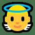 👼 baby angel Emoji on Windows Platform