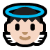 👼🏻 baby angel: light skin tone Emoji on Windows Platform
