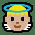 👼🏼 baby angel: medium-light skin tone Emoji on Windows Platform