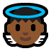 👼🏾 baby angel: medium-dark skin tone Emoji on Windows Platform