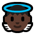 👼🏿 baby angel: dark skin tone Emoji on Windows Platform