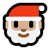 🎅🏼 Santa Claus: medium-light skin tone Emoji on Windows Platform