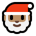 🎅🏽 Santa Claus: medium skin tone Emoji on Windows Platform