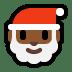 🎅🏾 Santa Claus: medium-dark skin tone Emoji on Windows Platform