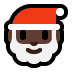 🎅🏿 Santa Claus: dark skin tone Emoji on Windows Platform