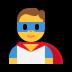 🦸♂️ man superhero Emoji on Windows Platform