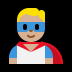 🦸🏼‍♂️ man superhero: medium-light skin tone Emoji on Windows Platform