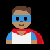🦸🏽♂️ man superhero: medium skin tone Emoji on Windows Platform