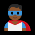 🦸🏾♂️ man superhero: medium-dark skin tone Emoji on Windows Platform