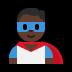 🦸🏿♂️ man superhero: dark skin tone Emoji on Windows Platform