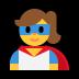 🦸♀️ woman superhero Emoji on Windows Platform