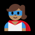 🦸🏽♀️ woman superhero: medium skin tone Emoji on Windows Platform