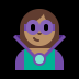 🦹🏽 supervillain: medium skin tone Emoji on Windows Platform
