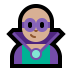 🦹🏼♂️ man supervillain: medium-light skin tone Emoji on Windows Platform