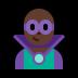 🦹🏿♂️ man supervillain: dark skin tone Emoji on Windows Platform
