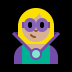 🦹🏼‍♀️ woman supervillain: medium-light skin tone Emoji on Windows Platform