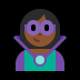 🦹🏾‍♀️ woman supervillain: medium-dark skin tone Emoji on Windows Platform