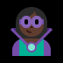 🦹🏿‍♀️ woman supervillain: dark skin tone Emoji on Windows Platform