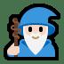 🧙🏻♂️ man mage: light skin tone Emoji on Windows Platform