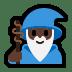 🧙🏿♂️ man mage: dark skin tone Emoji on Windows Platform