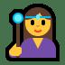 🧙♀️ woman mage Emoji on Windows Platform