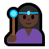 🧙🏿‍♀️ woman mage: dark skin tone Emoji on Windows Platform