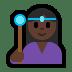 🧙🏿♀️ woman mage: dark skin tone Emoji on Windows Platform