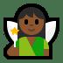 🧚🏾 fairy: medium-dark skin tone Emoji on Windows Platform