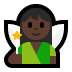 🧚🏿 fairy: dark skin tone Emoji on Windows Platform