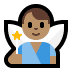 🧚🏽‍♂️ man fairy: medium skin tone Emoji on Windows Platform