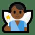 🧚🏾♂️ man fairy: medium-dark skin tone Emoji on Windows Platform