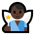 🧚🏿‍♂️ man fairy: dark skin tone Emoji on Windows Platform