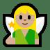 🧚🏼♀️ woman fairy: medium-light skin tone Emoji on Windows Platform