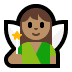 🧚🏽‍♀️ woman fairy: medium skin tone Emoji on Windows Platform