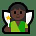 🧚🏿♀️ woman fairy: dark skin tone Emoji on Windows Platform