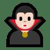 🧛🏻♂️ man vampire: light skin tone Emoji on Windows Platform