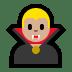 🧛🏼♂️ man vampire: medium-light skin tone Emoji on Windows Platform