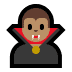 🧛🏽‍♂️ man vampire: medium skin tone Emoji on Windows Platform