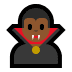 🧛🏾‍♂️ man vampire: medium-dark skin tone Emoji on Windows Platform
