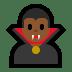 🧛🏾♂️ man vampire: medium-dark skin tone Emoji on Windows Platform