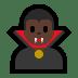 🧛🏿♂️ man vampire: dark skin tone Emoji on Windows Platform
