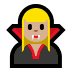 🧛🏼‍♀️ woman vampire: medium-light skin tone Emoji on Windows Platform