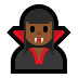 🧛🏾♀️ woman vampire: medium-dark skin tone Emoji on Windows Platform